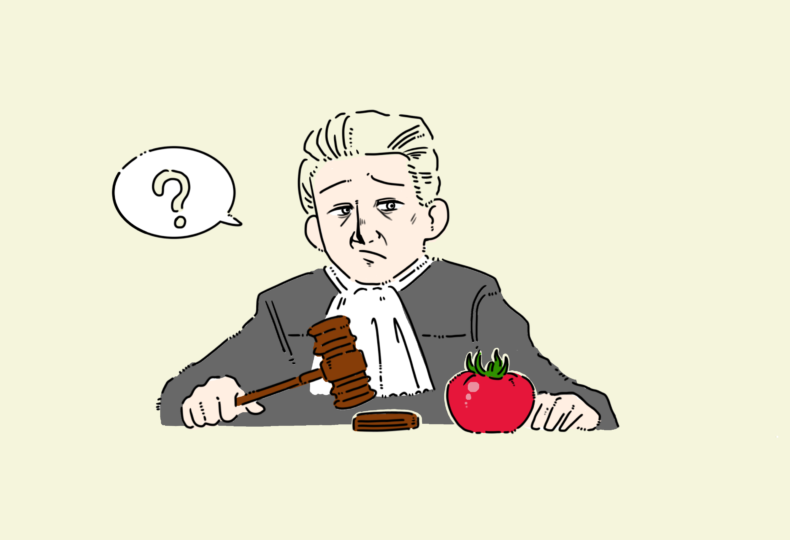 イラスト:トマトの裁判