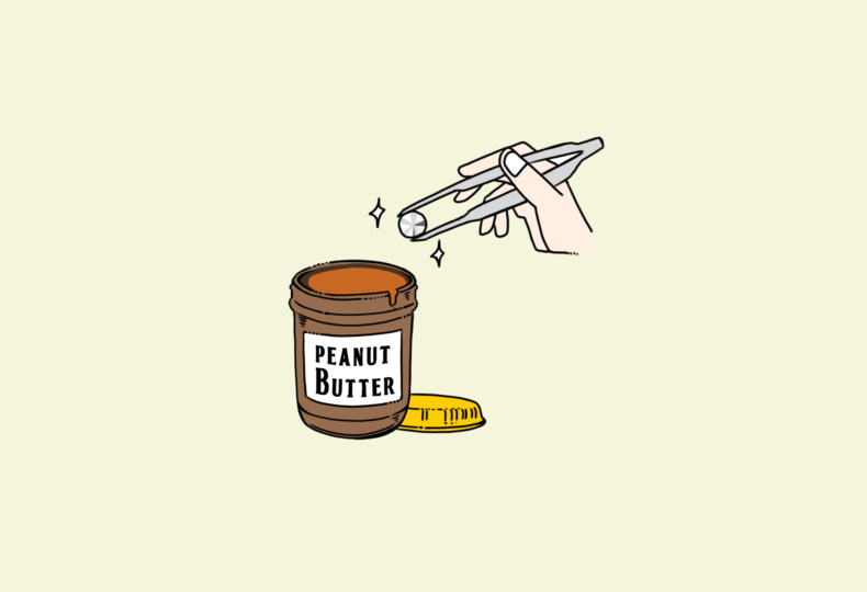 イラスト:ピーナッツバターとダイヤモンド