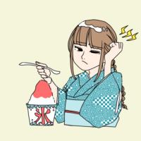 イラスト:アイスクリーム頭痛
