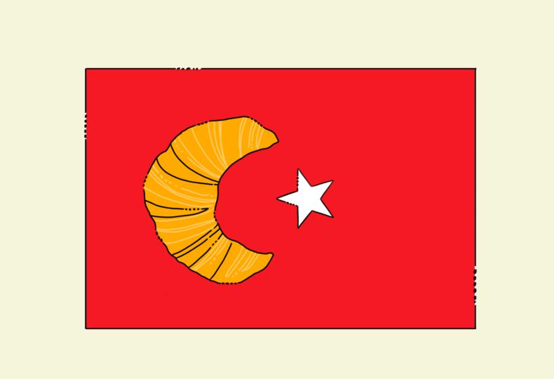イラスト:トルコ国旗